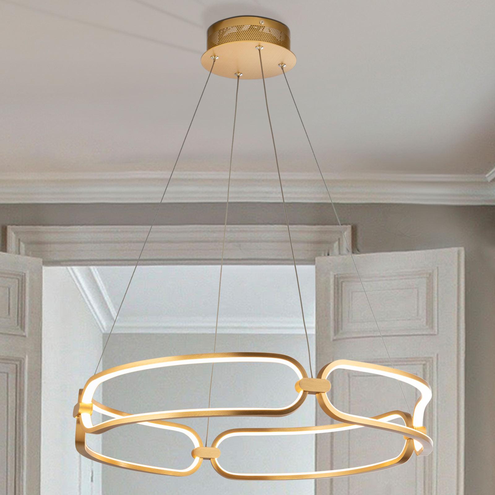 Lampa wisząca LED Colette, złota