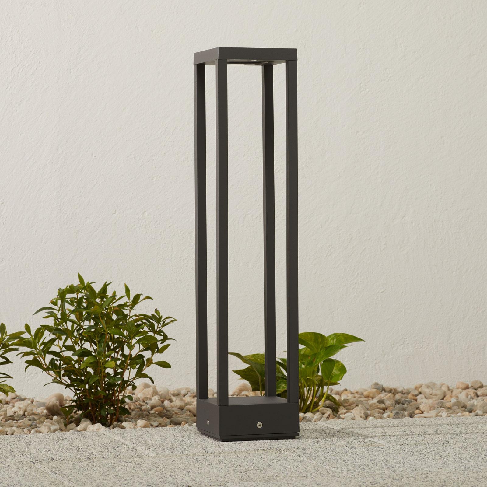 LED-Wegelampe Carlota, dunkelgrau, 65 cm