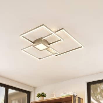 Lindby Duetto LED plafondlamp nikkel 38W