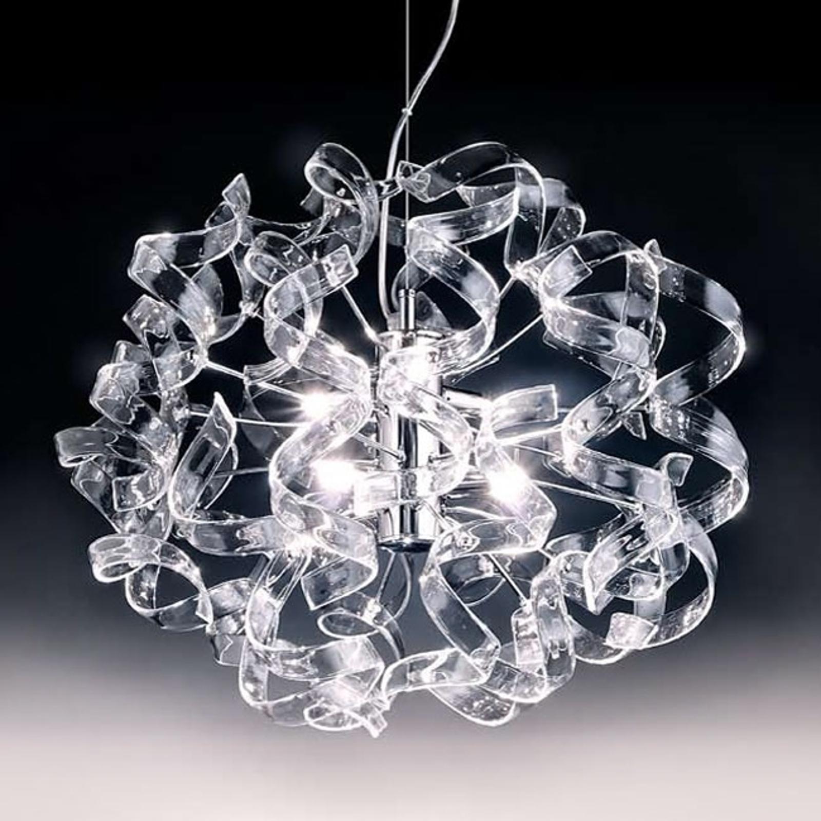 Lśniąca lampa wisząca Crystal, owal