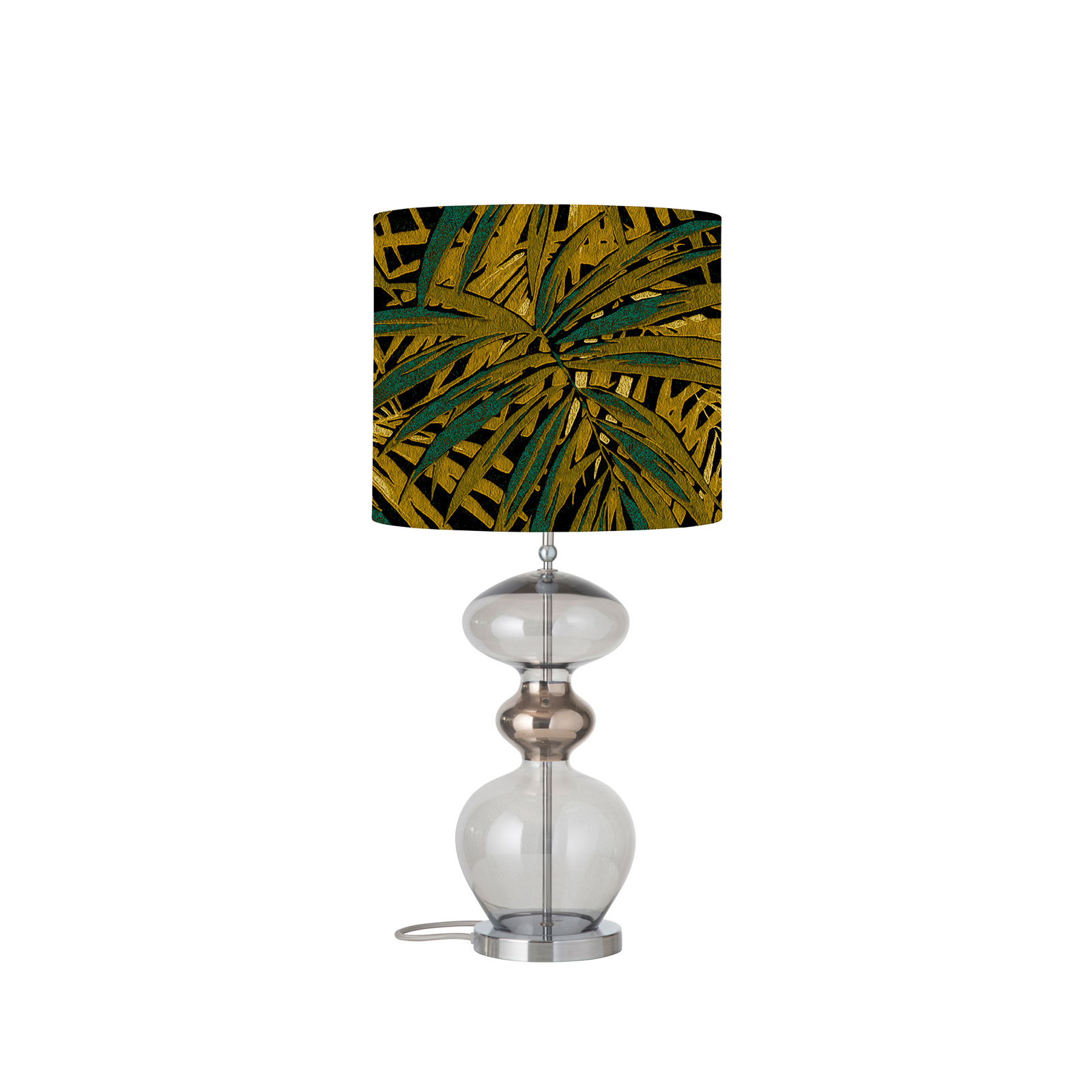 EBB & FLOW Futura lampa stołowa, Leaves maize