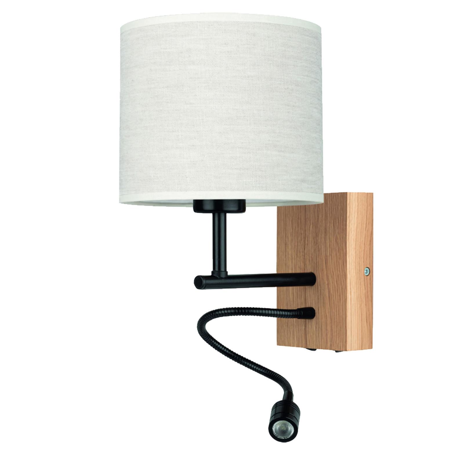 Sonny væglampe, LED-læselampe, cylinderskærm