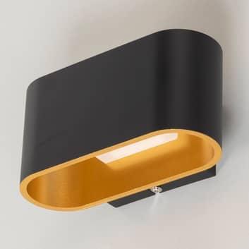 Aplique LED Denzel en negro/oro