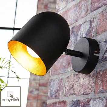 Svart-gylden LED-spot Morik, Easydim