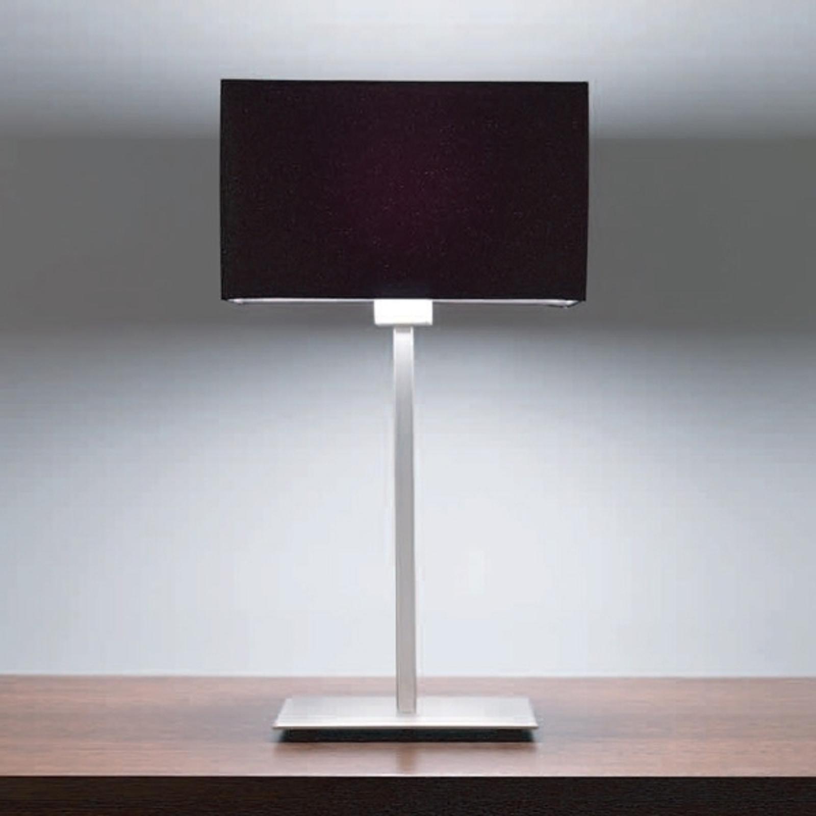 Raffinata lampada da tavolo PARK LANE, nero/satin.