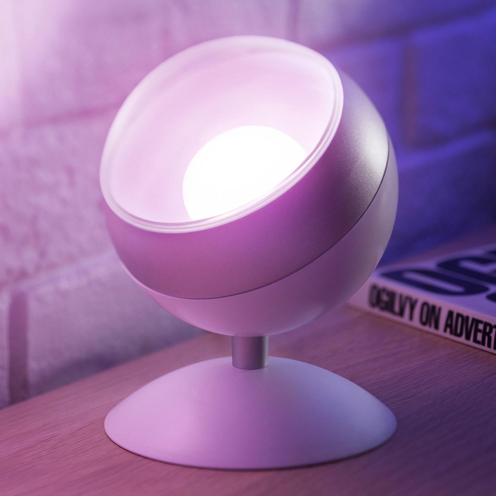 WiZ Quest lampa stołowa LED, RGBW, biała