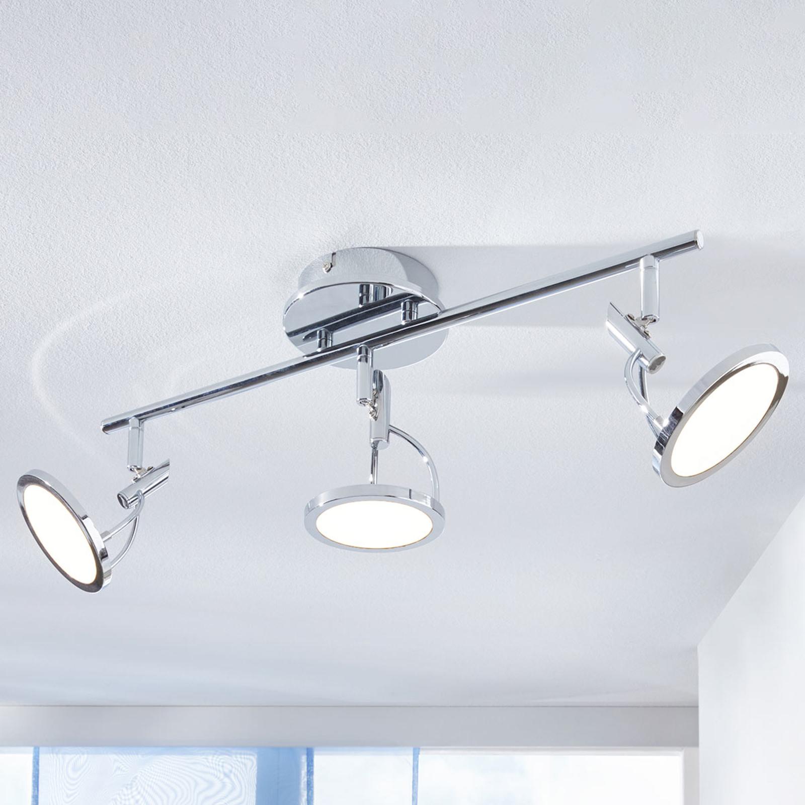 LED-Deckenspot Jorne, verchromt, 3-flammig