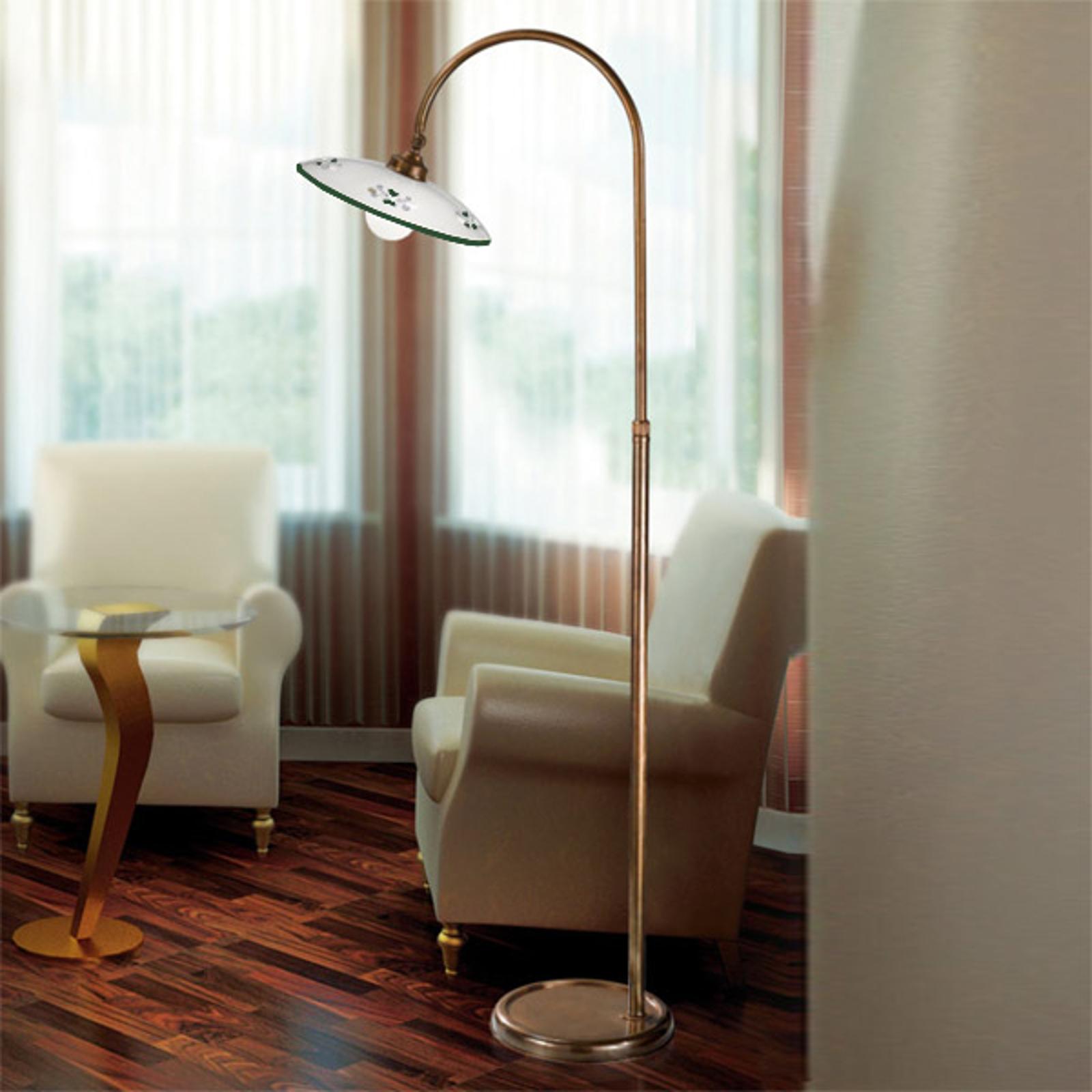 Tradycyjna lampa stojąca Bassano zielona