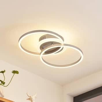 Lindby Fjardo LED-loftlampe CCT ringe, sølv