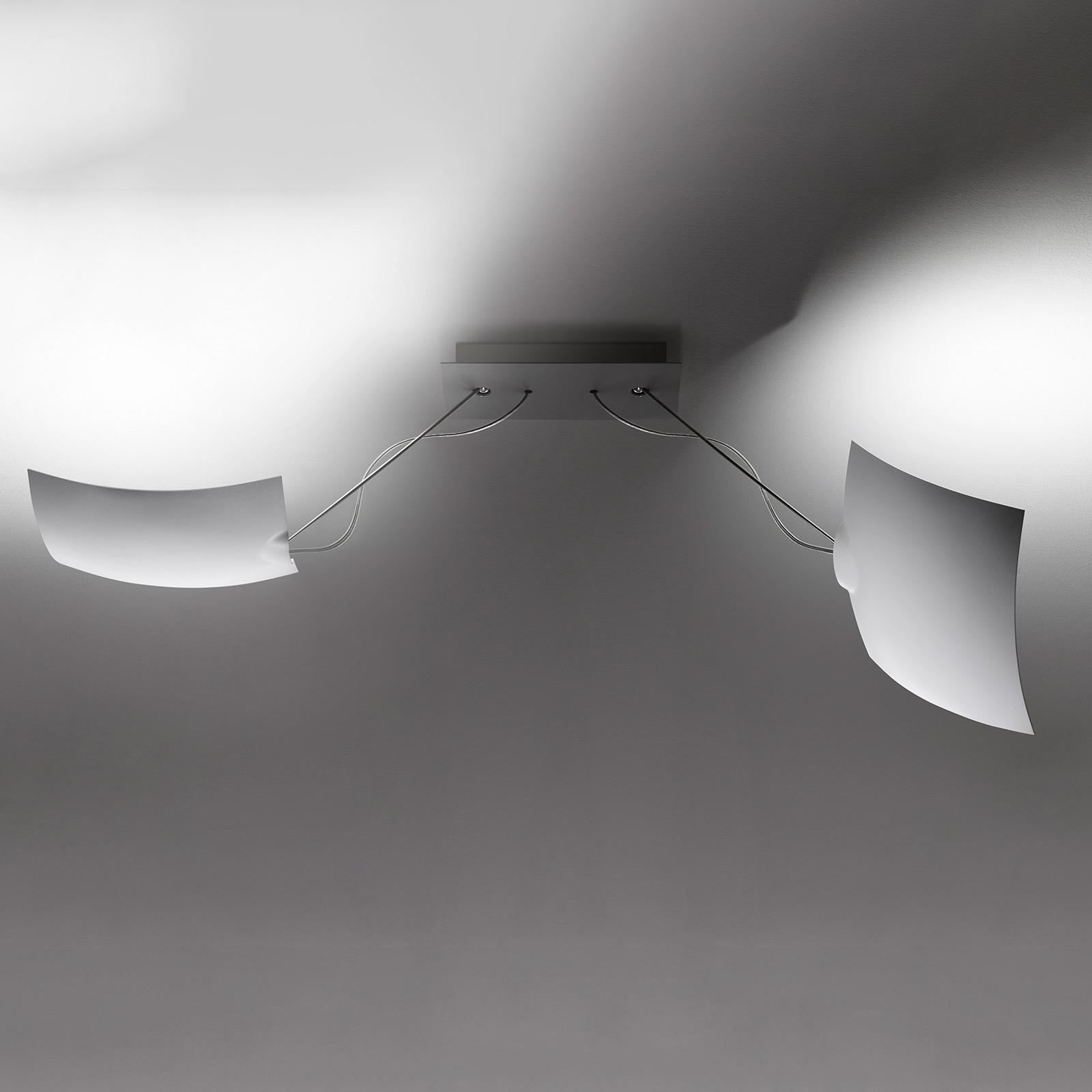 Ingo Maurer 2x18x18 LED plafondlamp, 2-lamps