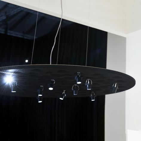 Artemide Silent Field - černé závěsné světlo LED