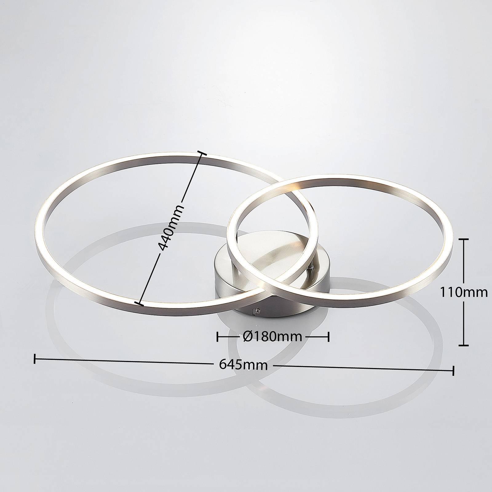 Lindby Sarafia lampa sufitowa LED z 2 pierścieni