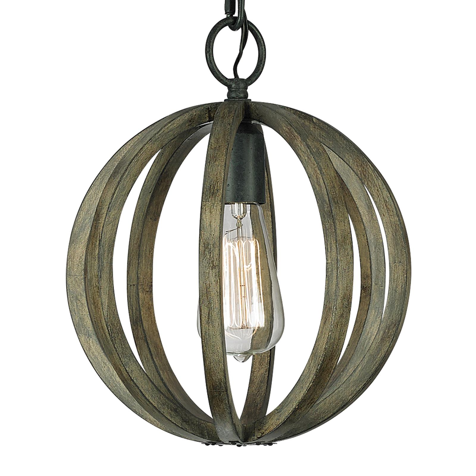Belle suspension Allier en bois 25,4cm