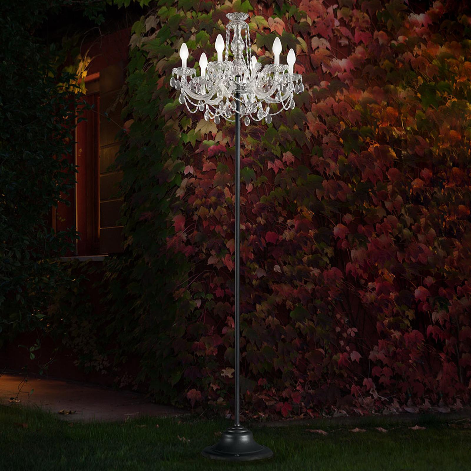 Lampadaire ext. RGBW Drylight - commande par appli