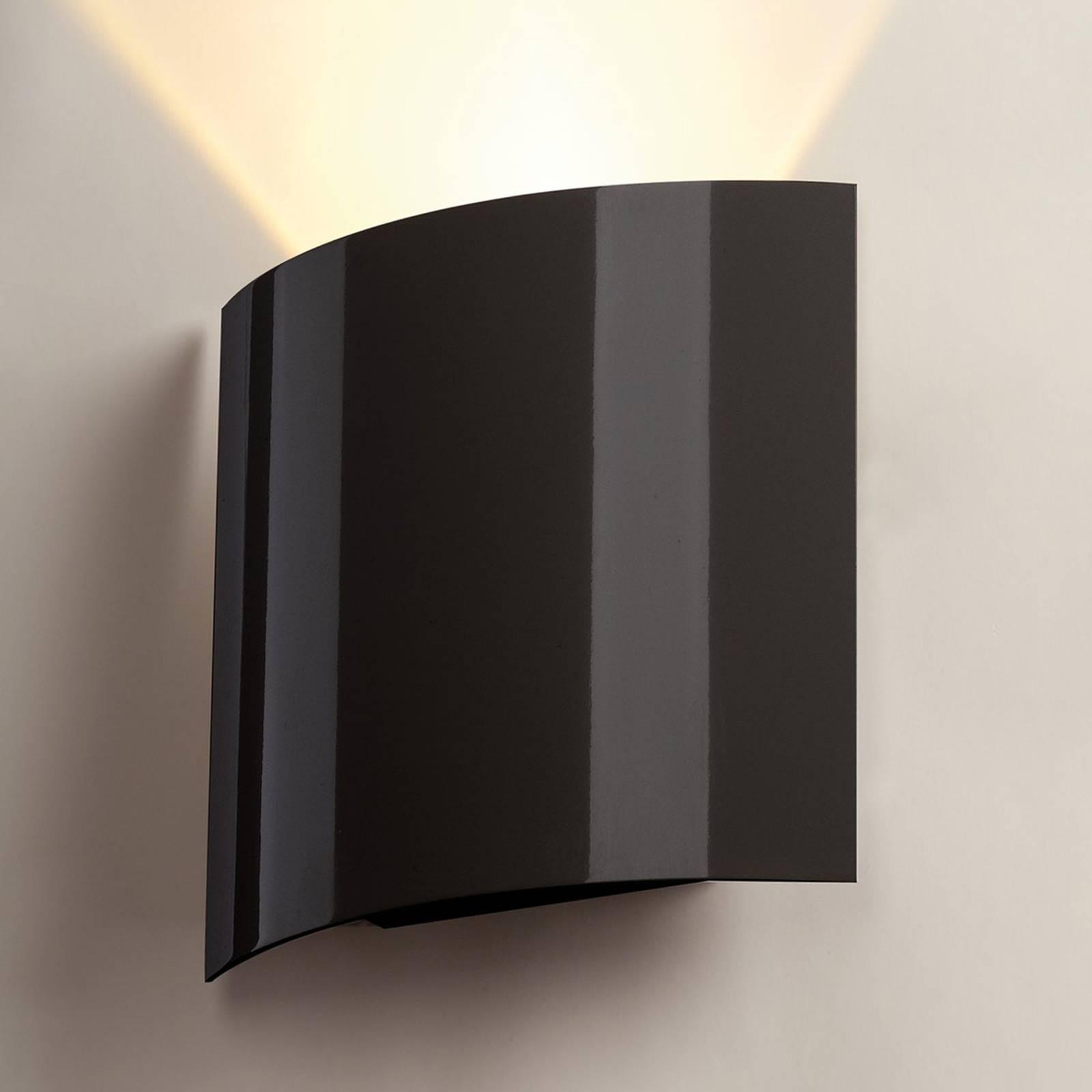 SLV Applique a LED, 1 luce, 20 cm, nera