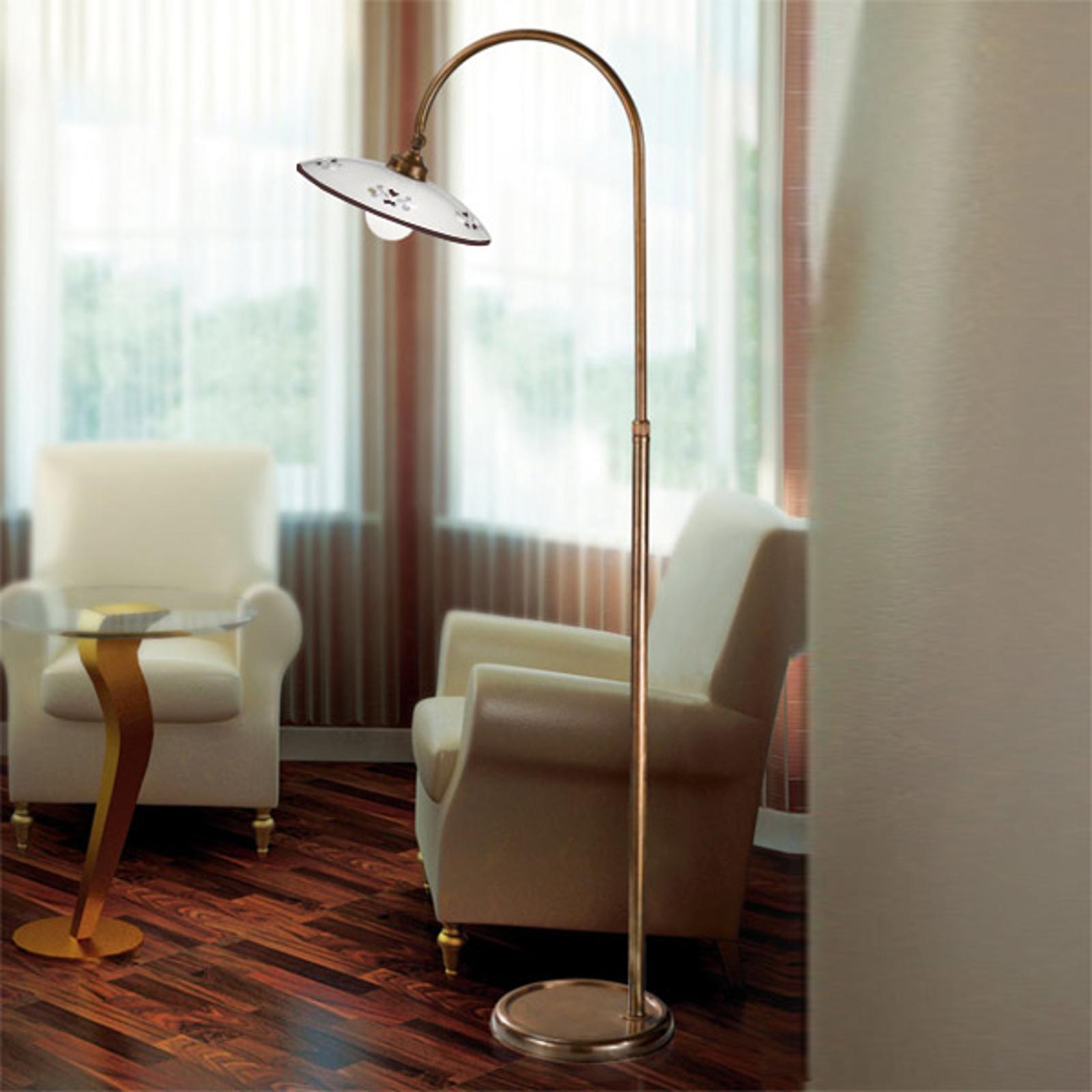 Tradycyjna lampa stojąca Bassano brązowa