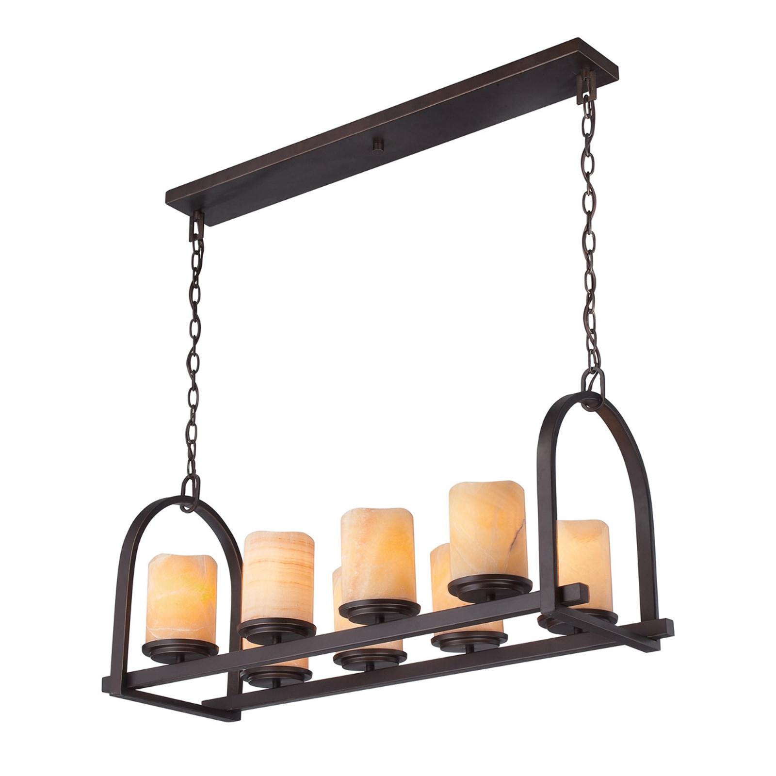 Leveä Aldora-riippuvalaisin, 8lamppua