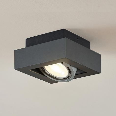 LED stropní osvětlení Ronka, GU10, 1zdrojové šedé