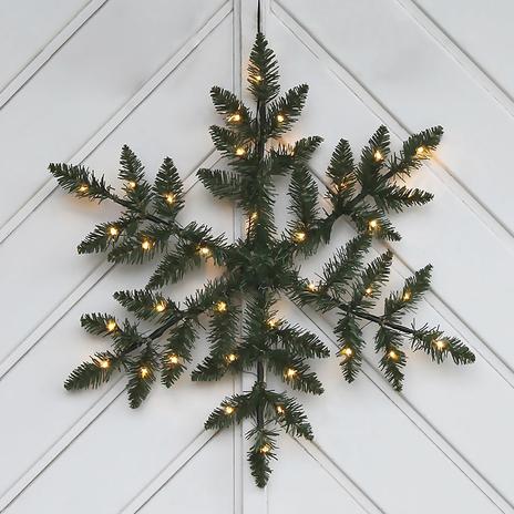 Na baterie, dekoracja zewnętrzna LED Snowflake