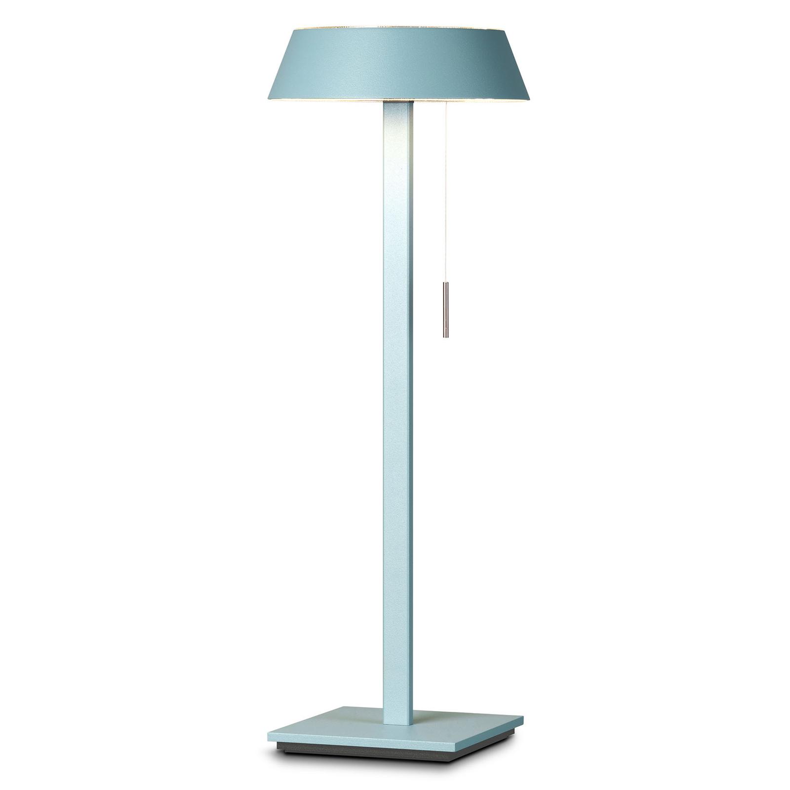 OLIGO Glance LED-Tischlampe aquamarin