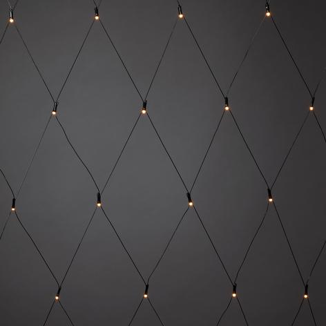 LED-Lichternetz außen, 3x3m, Lichtfarbe bernstein