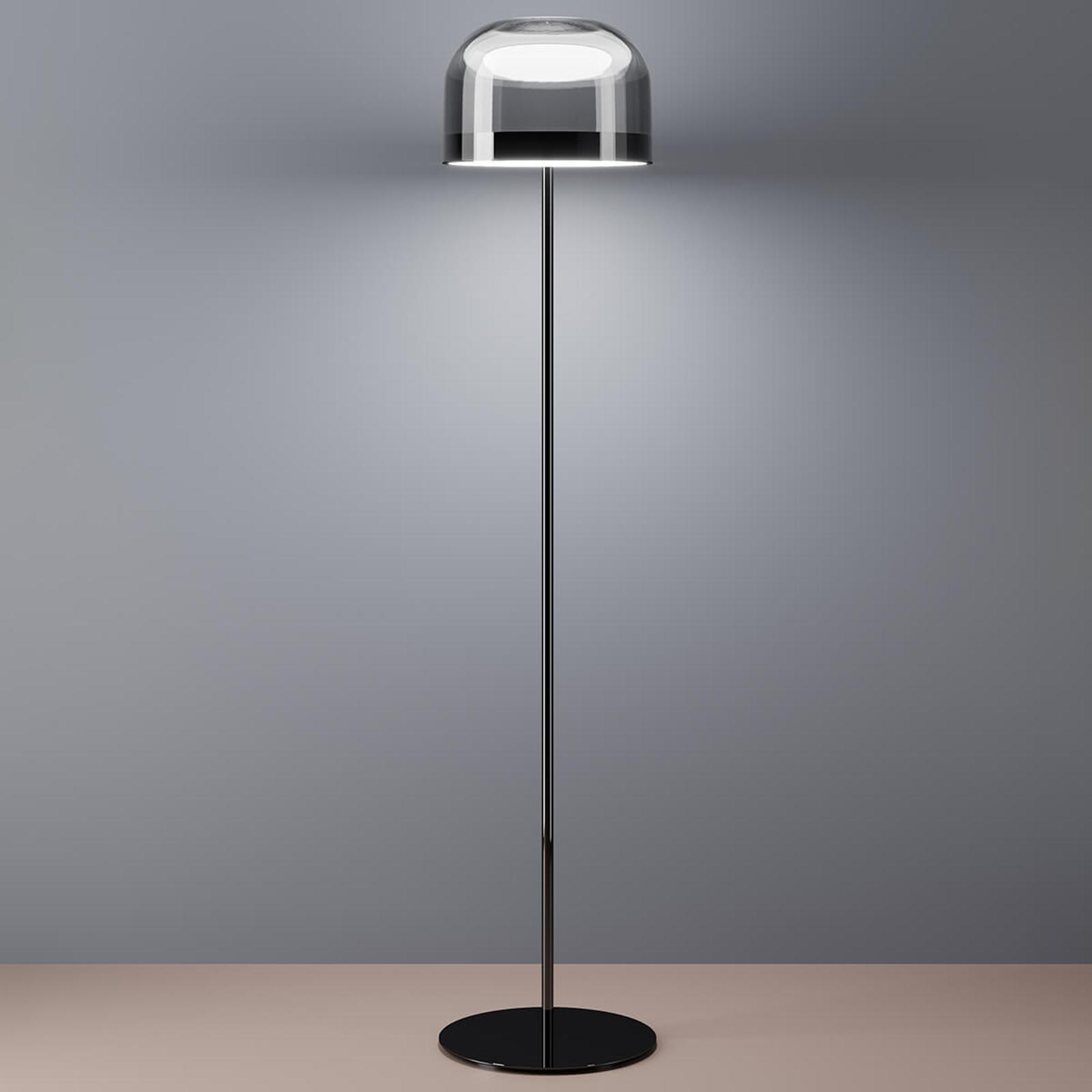 LED vloerlamp Equatore in chroom, 135 cm