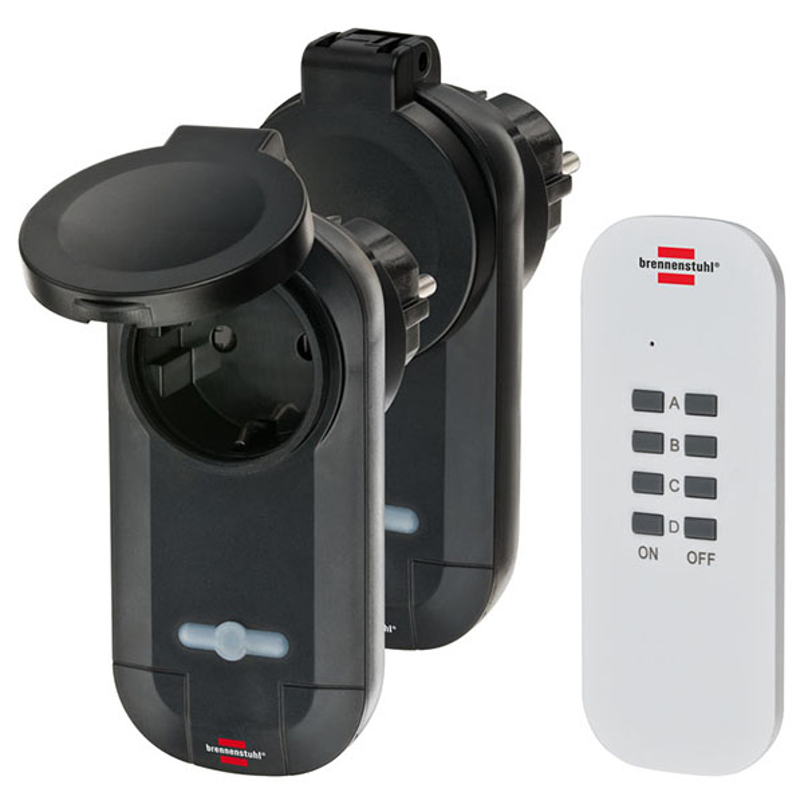 Stikkontaktsett Comfort-Line RC CE1 0201, 2x IP44