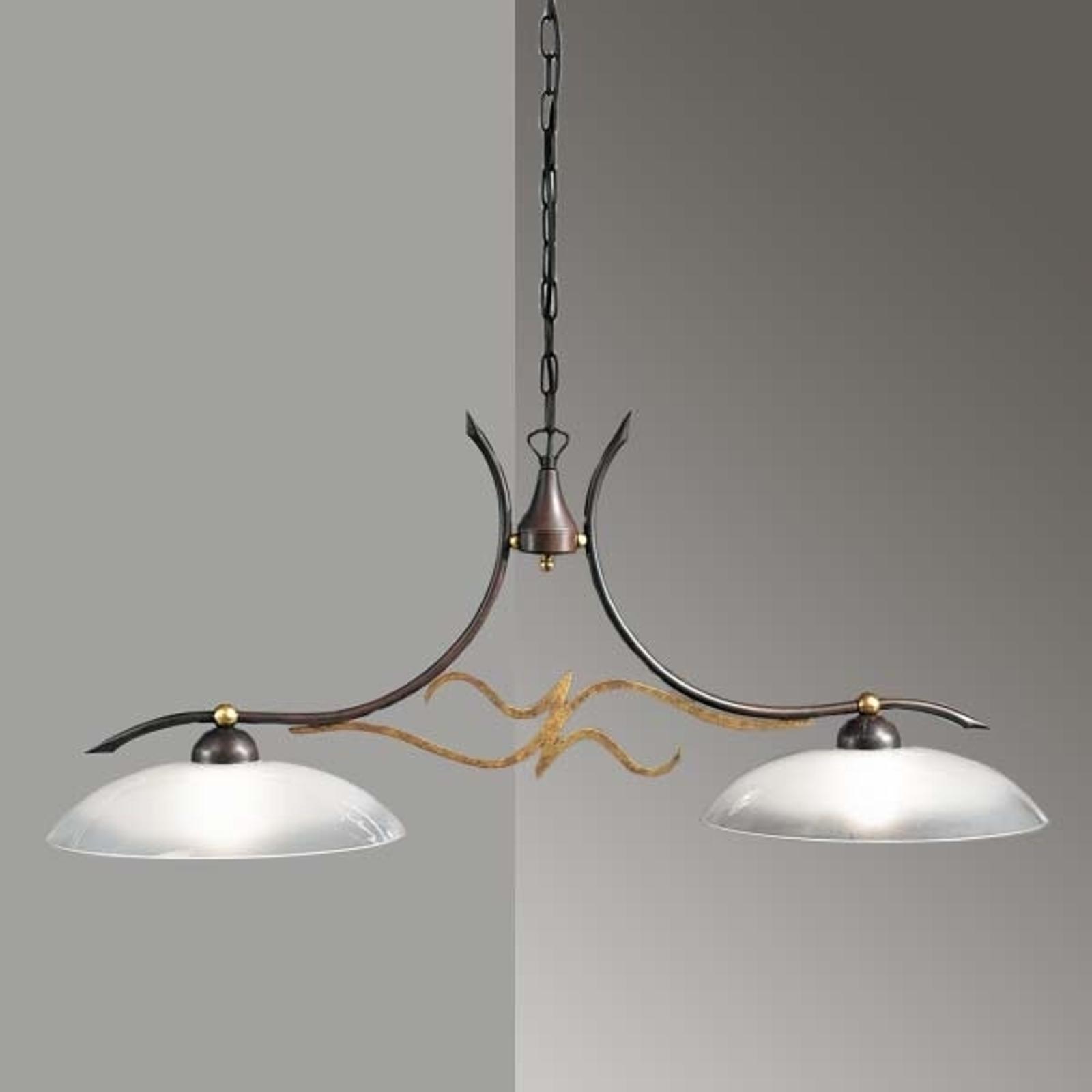 Suspension rustique AMABILE à 2 lampes