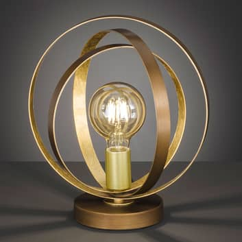 Trendy bordlampe Cordoba med gitterskærm