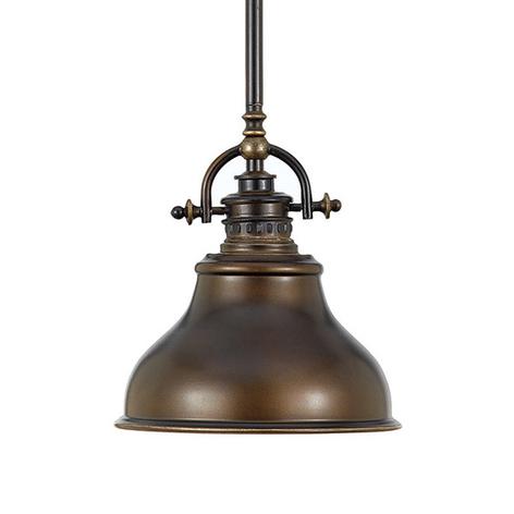 Suspension Emery style industriel bronze Ø 20,3cm