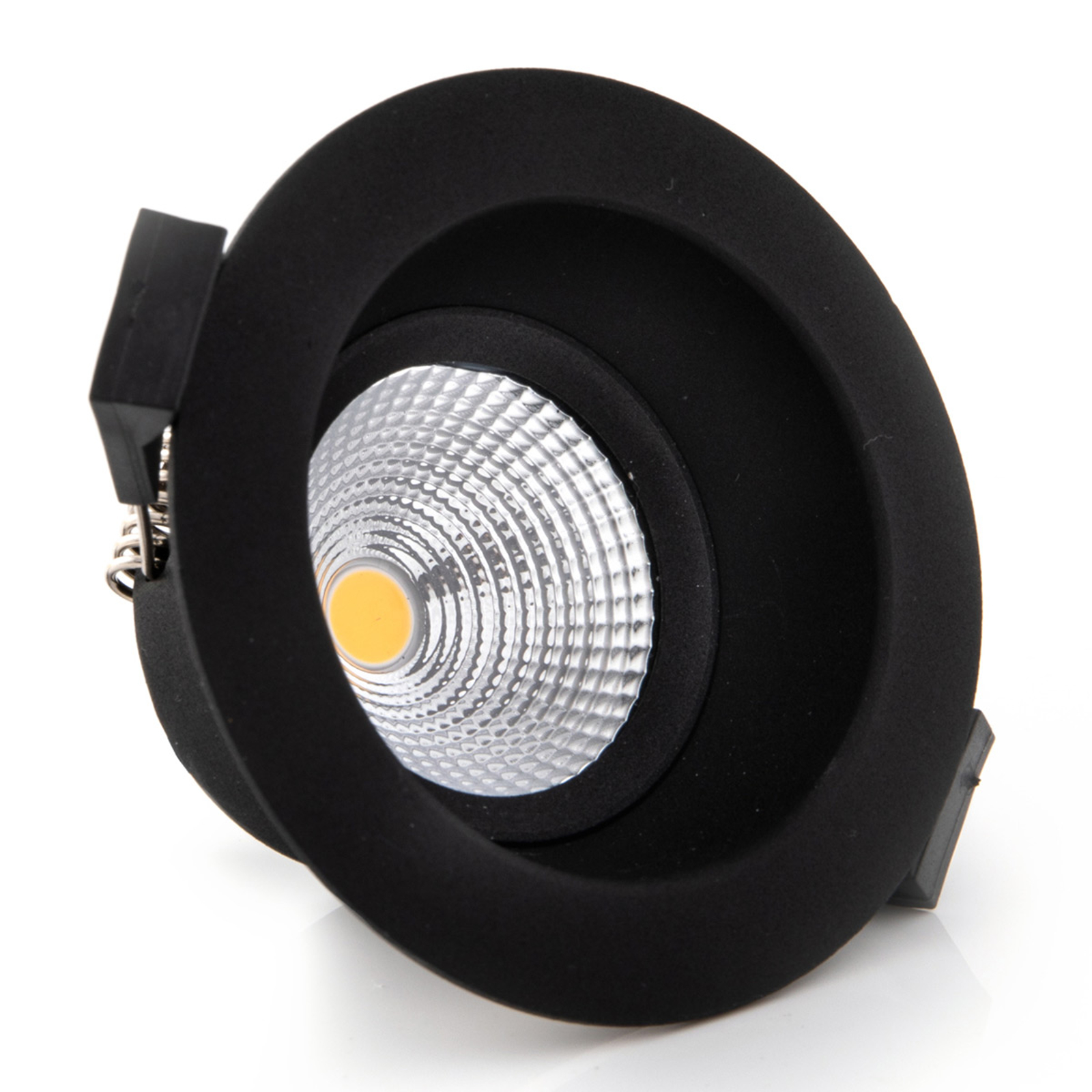One Soft SLC LED inbouwspot zwart 2.700K
