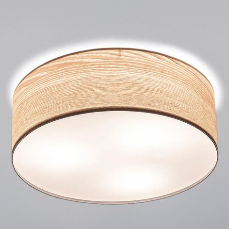Smart loftslampe Liska i lyst trædesign