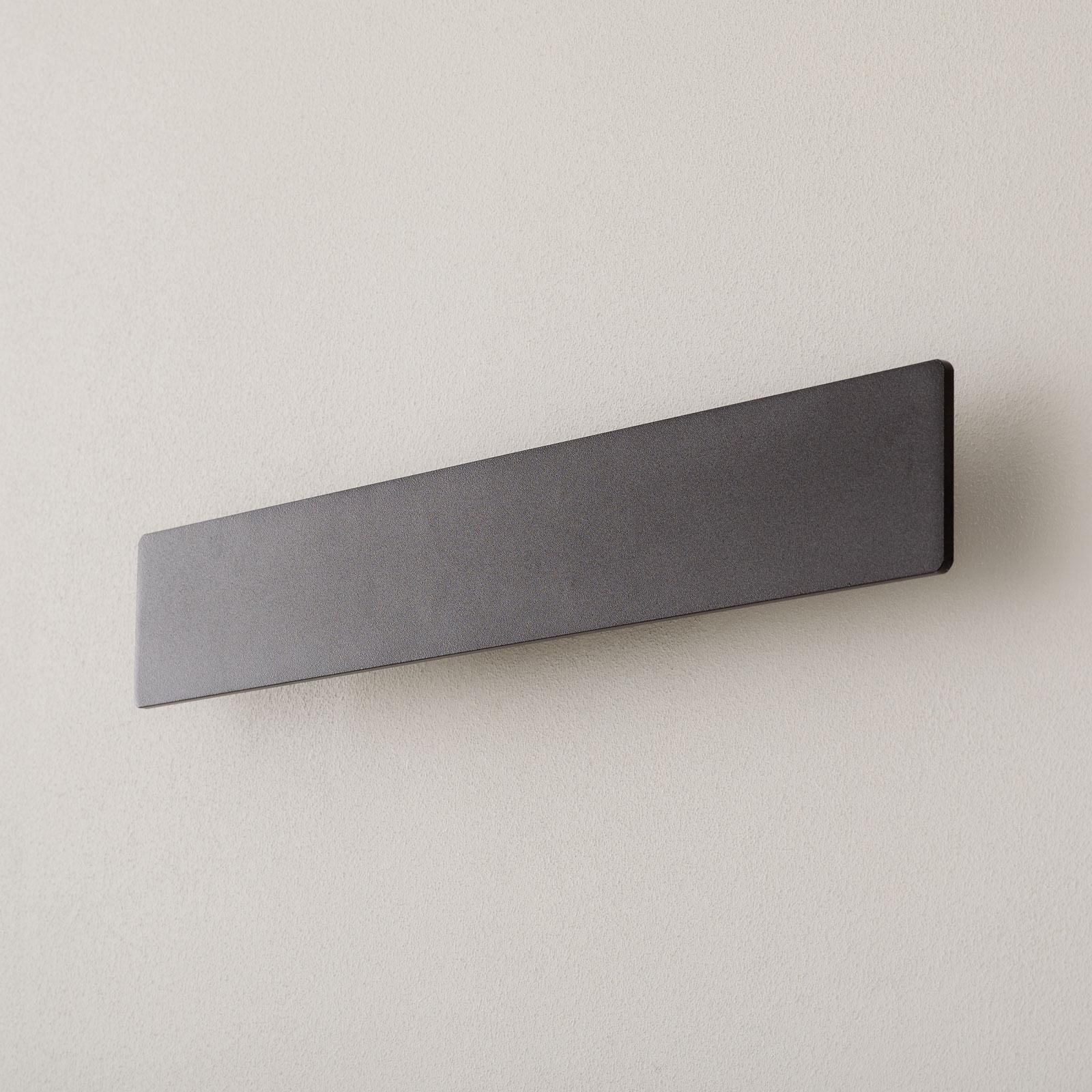 LED-Wandleuchte Zig Zag schwarz, Breite 53 cm