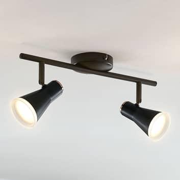 LED-kohdevalo Michiko, musta, 2-lamppuinen