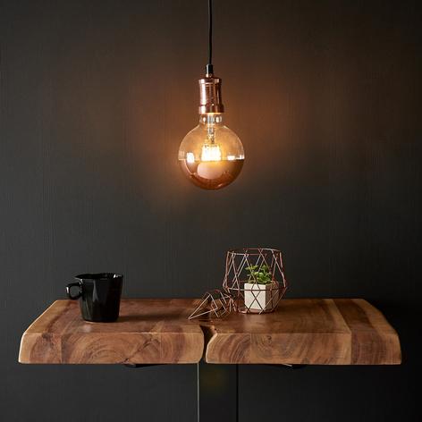 Koperkleurige LED-hanglamp Chicago