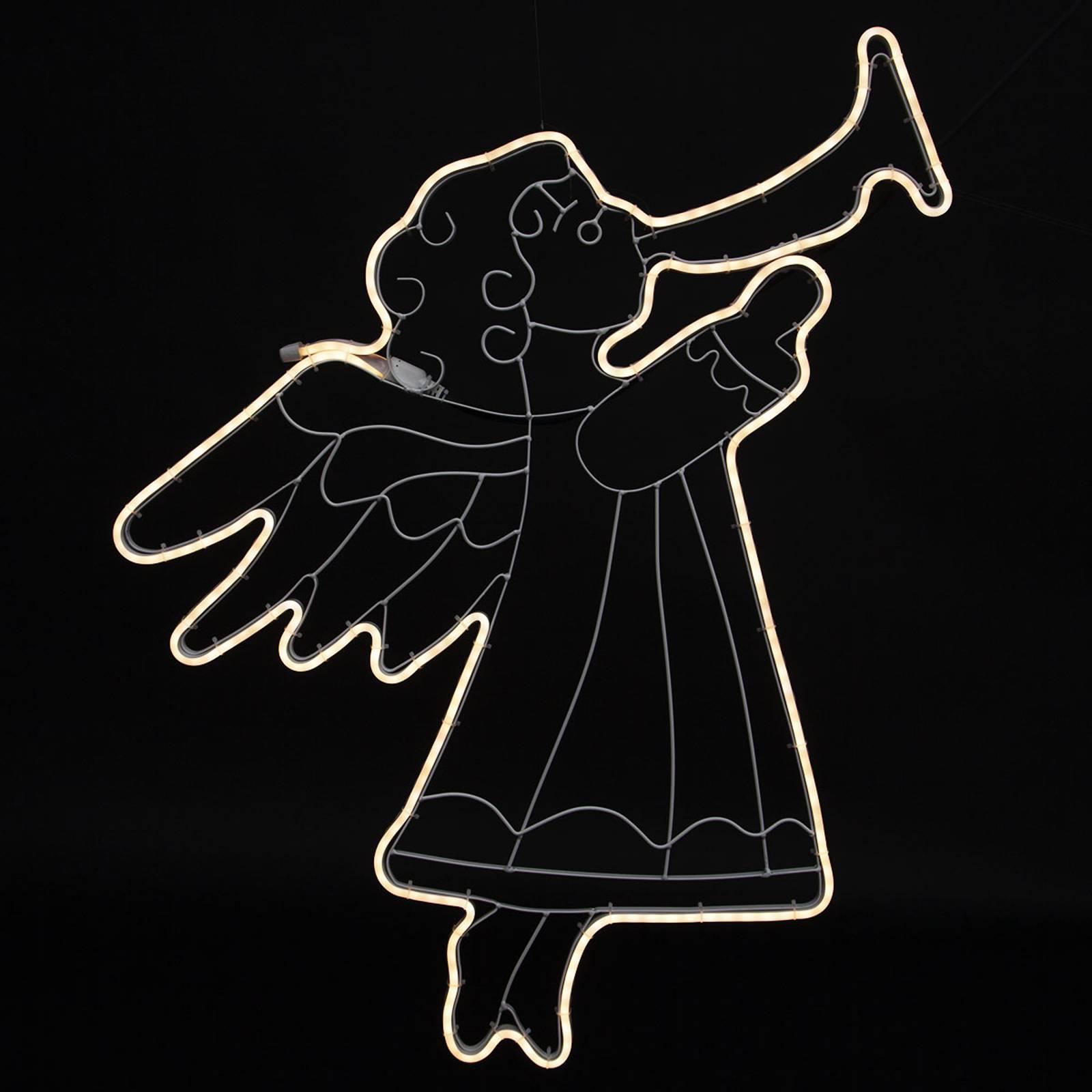 "*Merry X-Mas*: LED-Leuchtfigur ""Engel"" aus Kunststoff (Kopie) Lampenwelt"