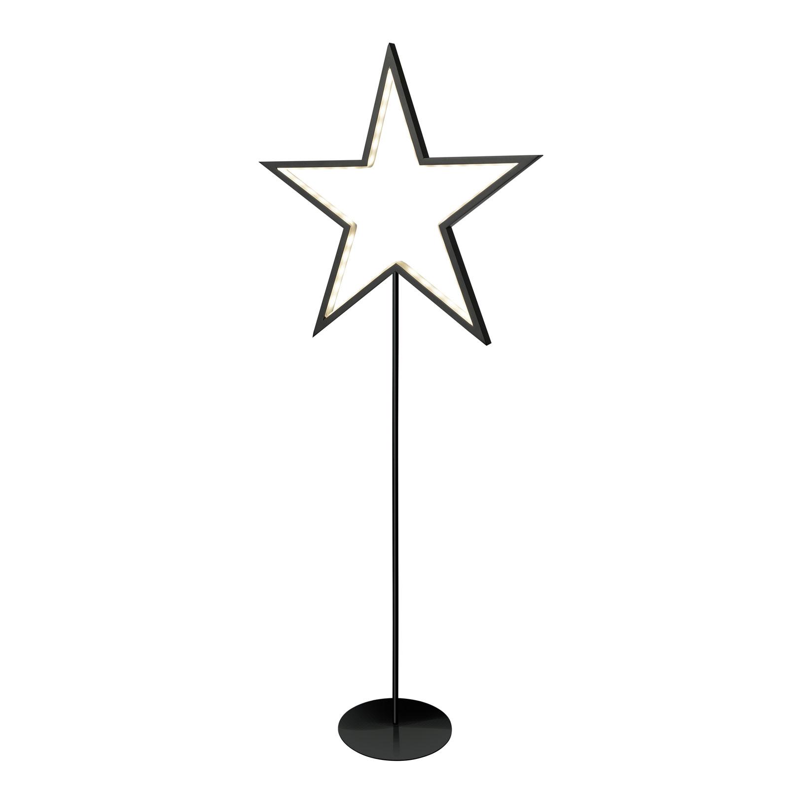 Lucy star decorative light, black, height 100 cm