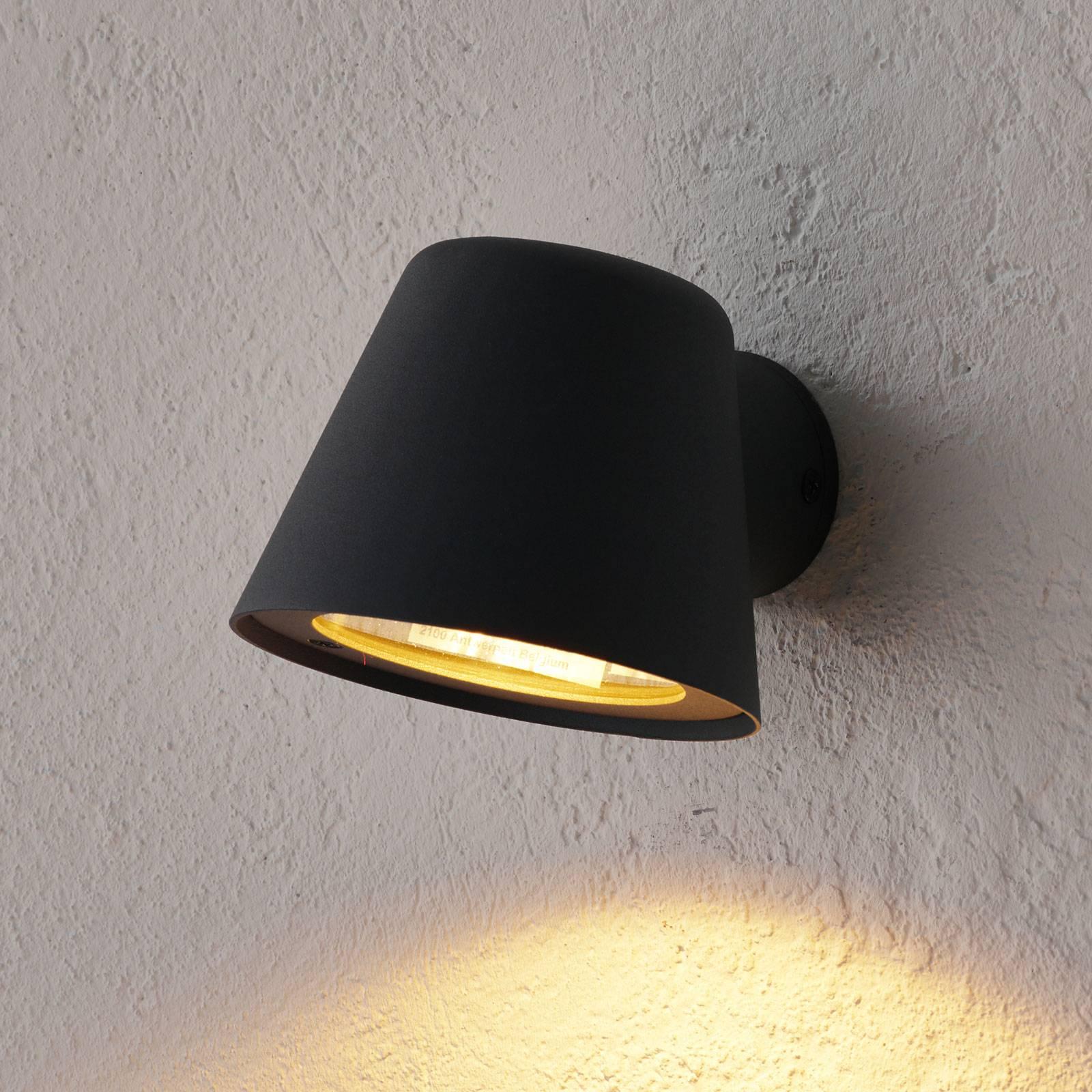 Anthrazitfarbene LED-Außenwandleuchte Dingo, GU10