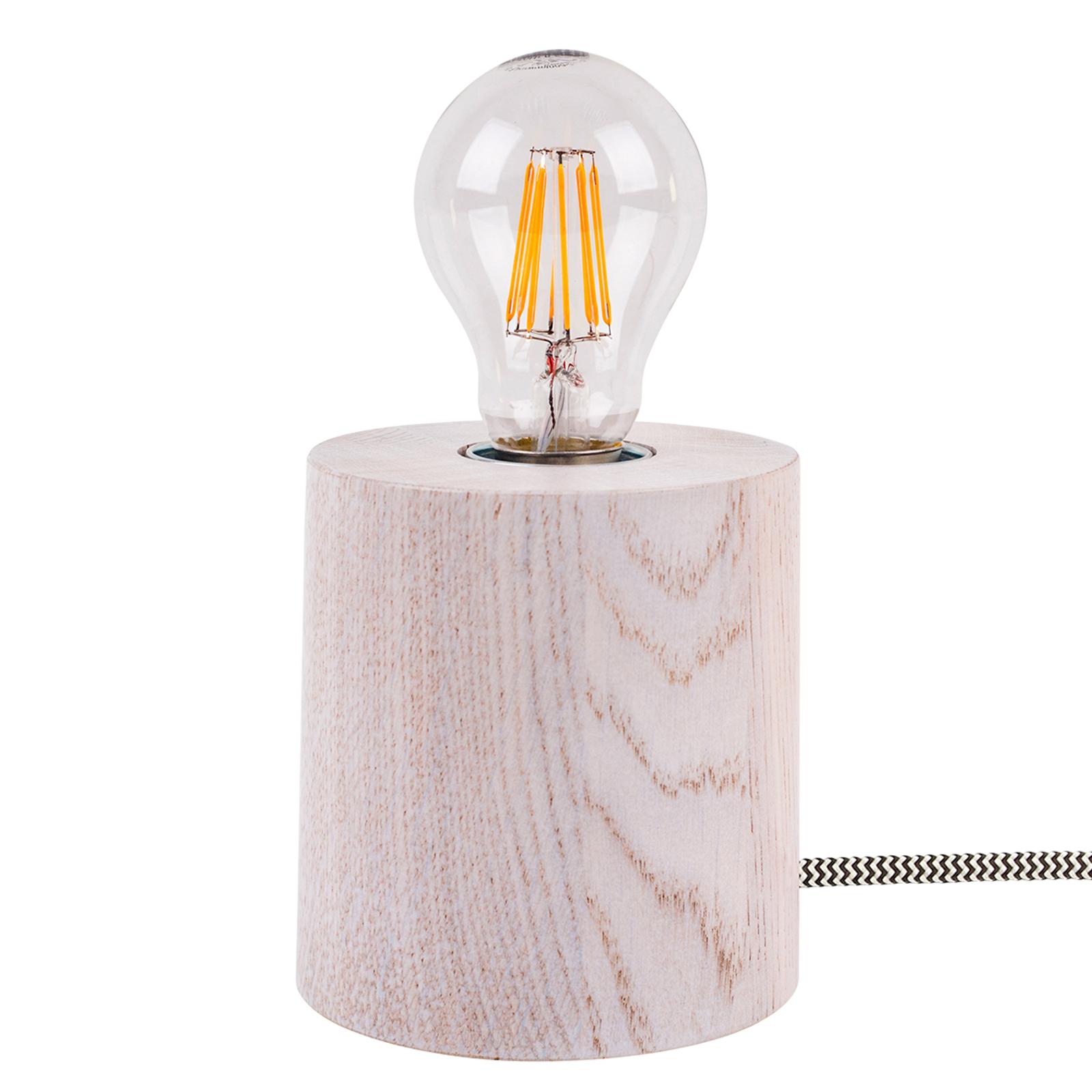 Tafellamp Trongo cilinder wit kabel zwart wit