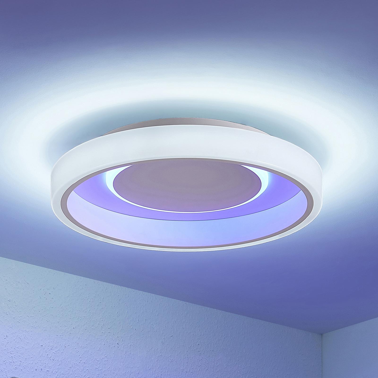 Lindby Wikani stropní světlo RGB, CCT, stmívatelné