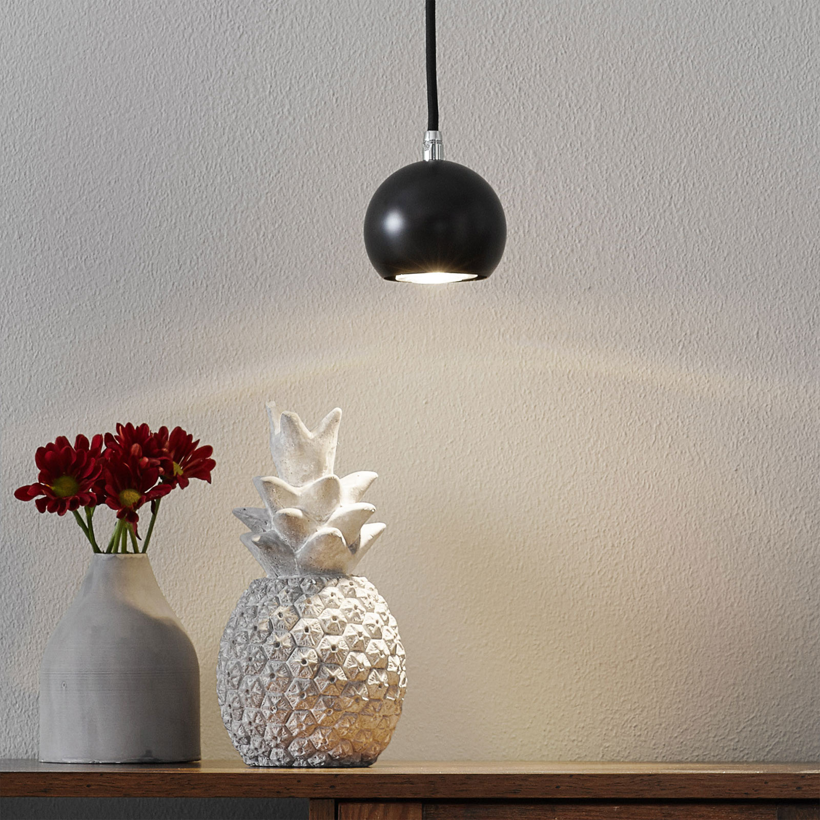 SLV Light Eye Ball hanglamp zwart / chroom