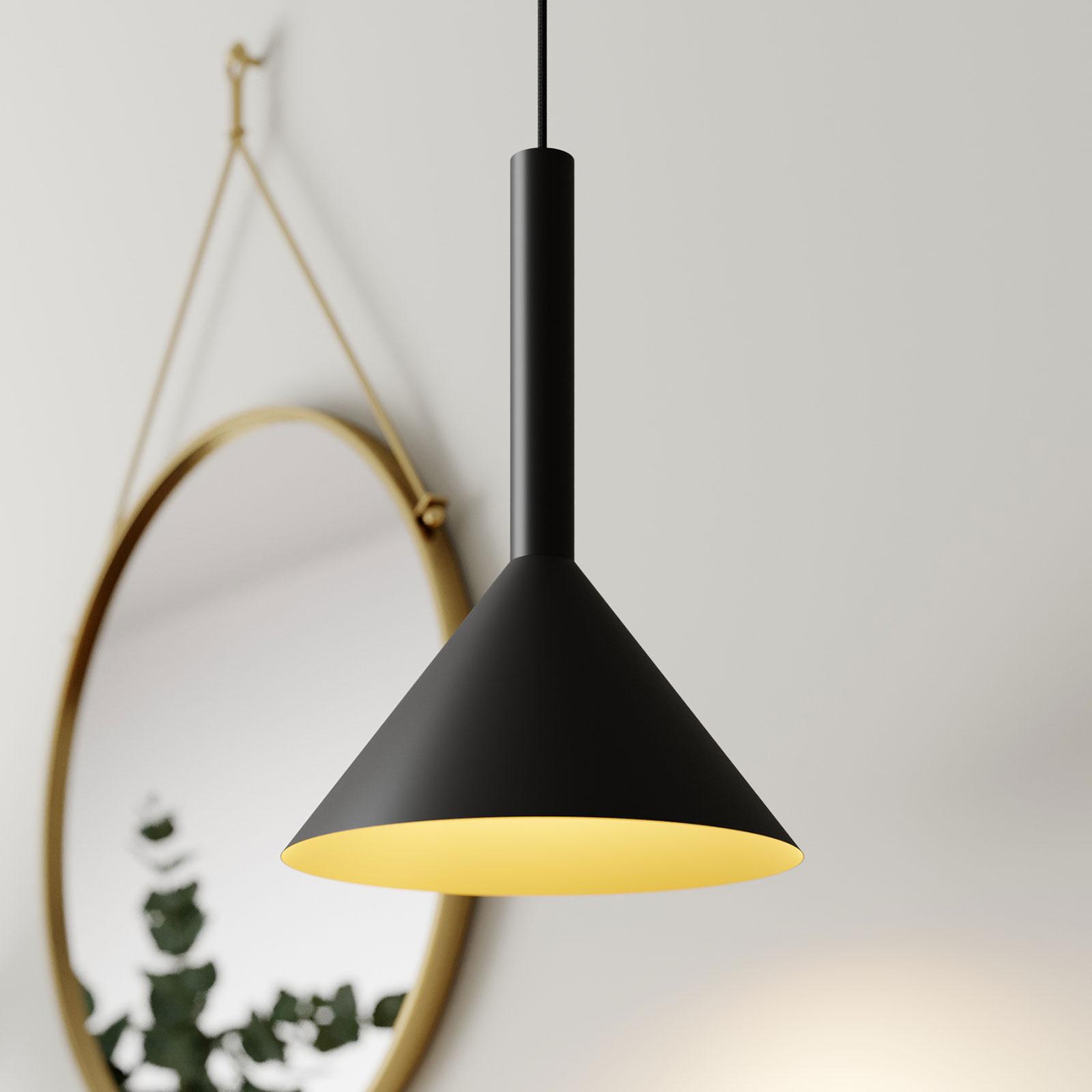 Arcchio Tadej suspension 30cm noire-dorée
