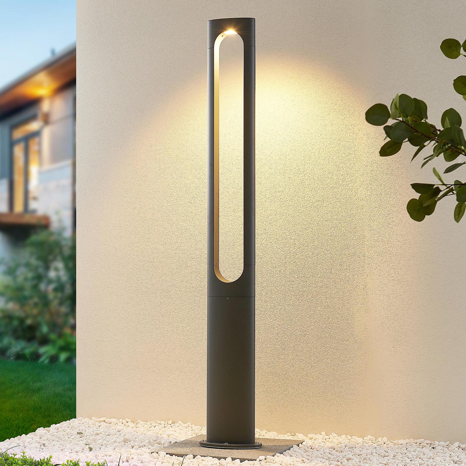 Lucande Dovino latarnia ogrodowa LED, 150 cm