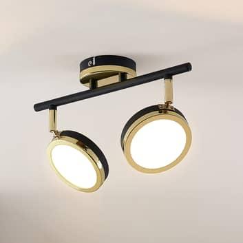 Lindby Alsani foco de techo LED, 2 luces