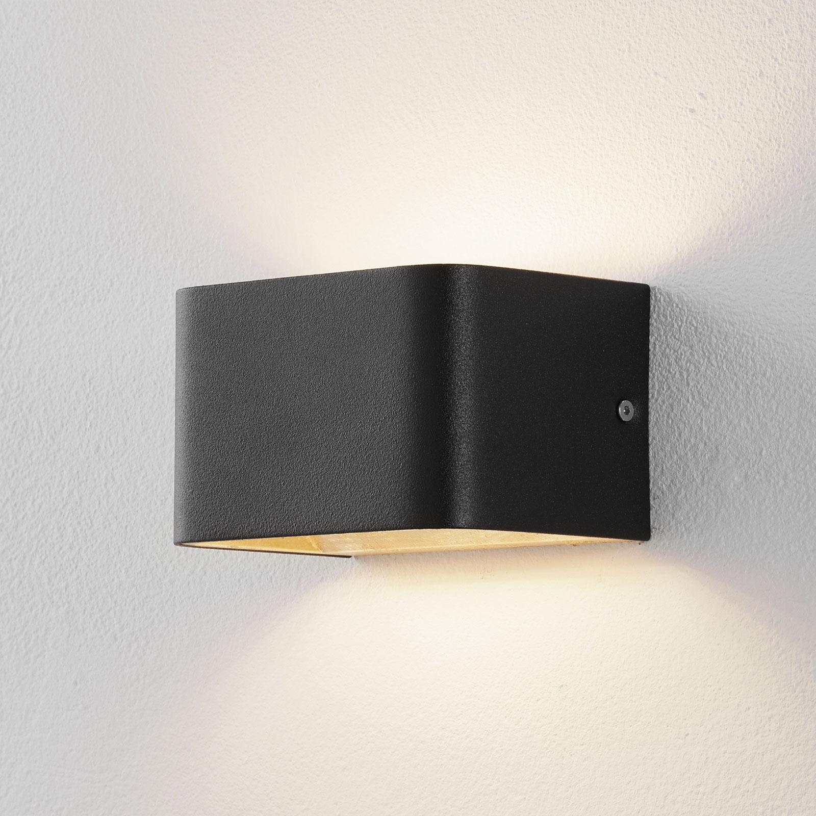 Lucande Sessa LED-Wandleuchte 13cm schwarz-gold