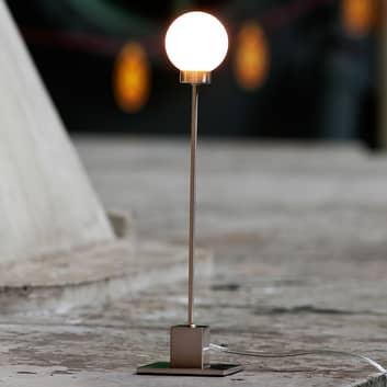 Minimalistisk bordlampe Snowball, metallic