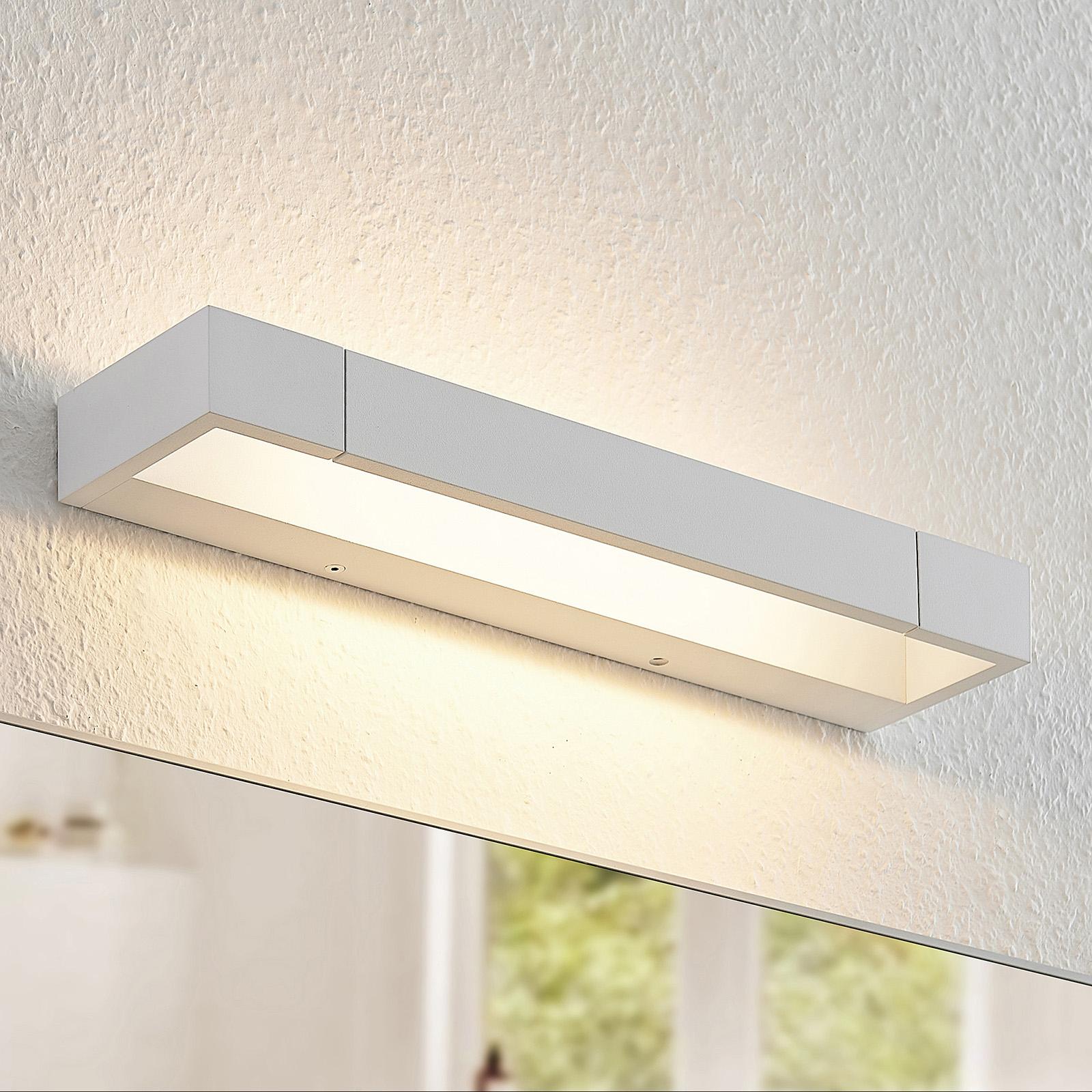 Arcchio Jora LED-væglampe, IP44, hvid, 40 cm