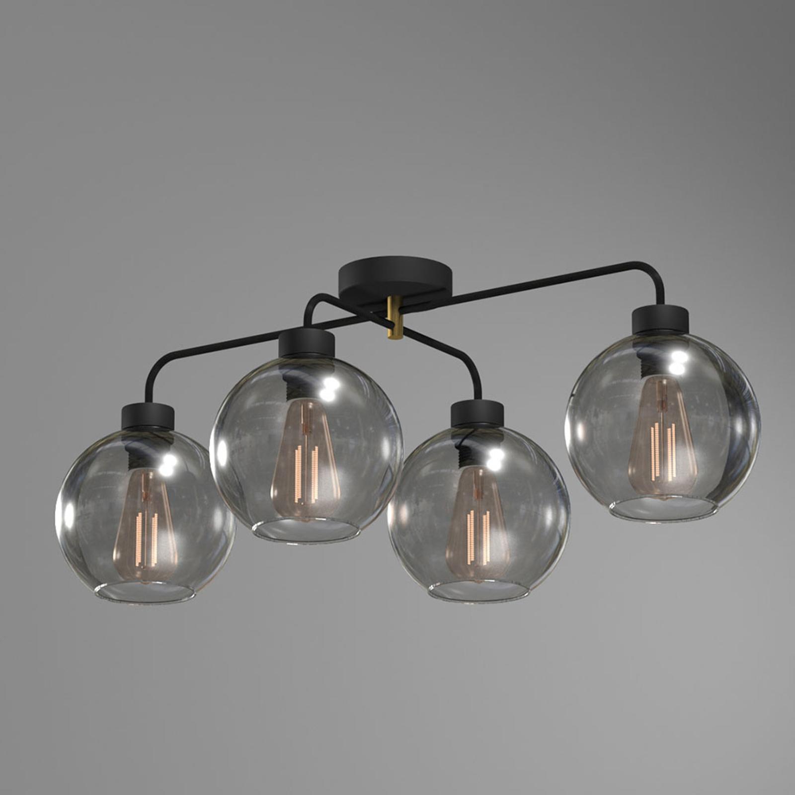 Plafondlamp Bari van glas, 4-lamps