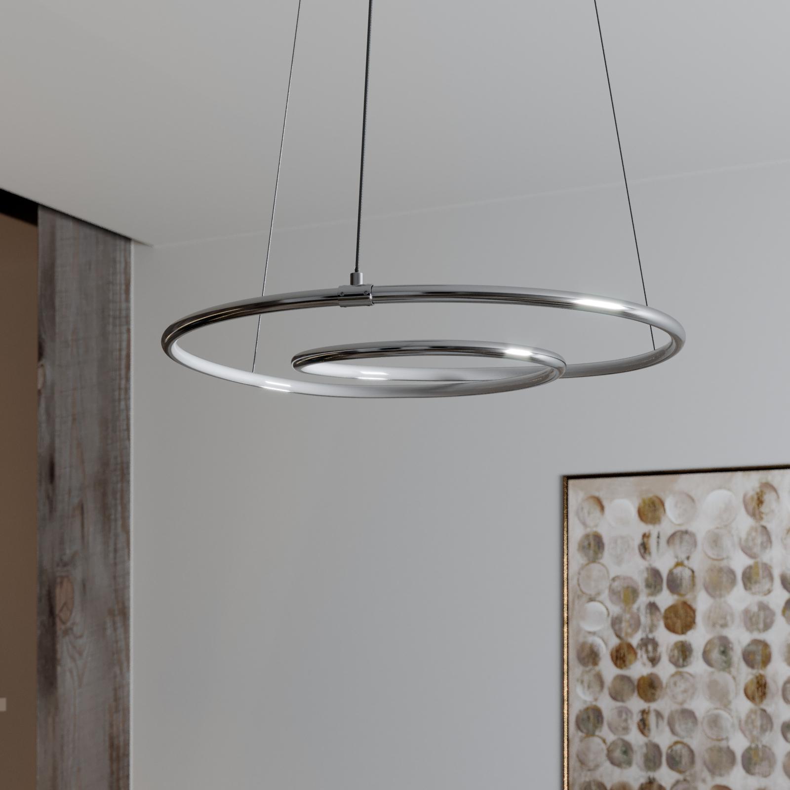 Lindby Lucy LED-Hängeleuchte, 45cm, chrom