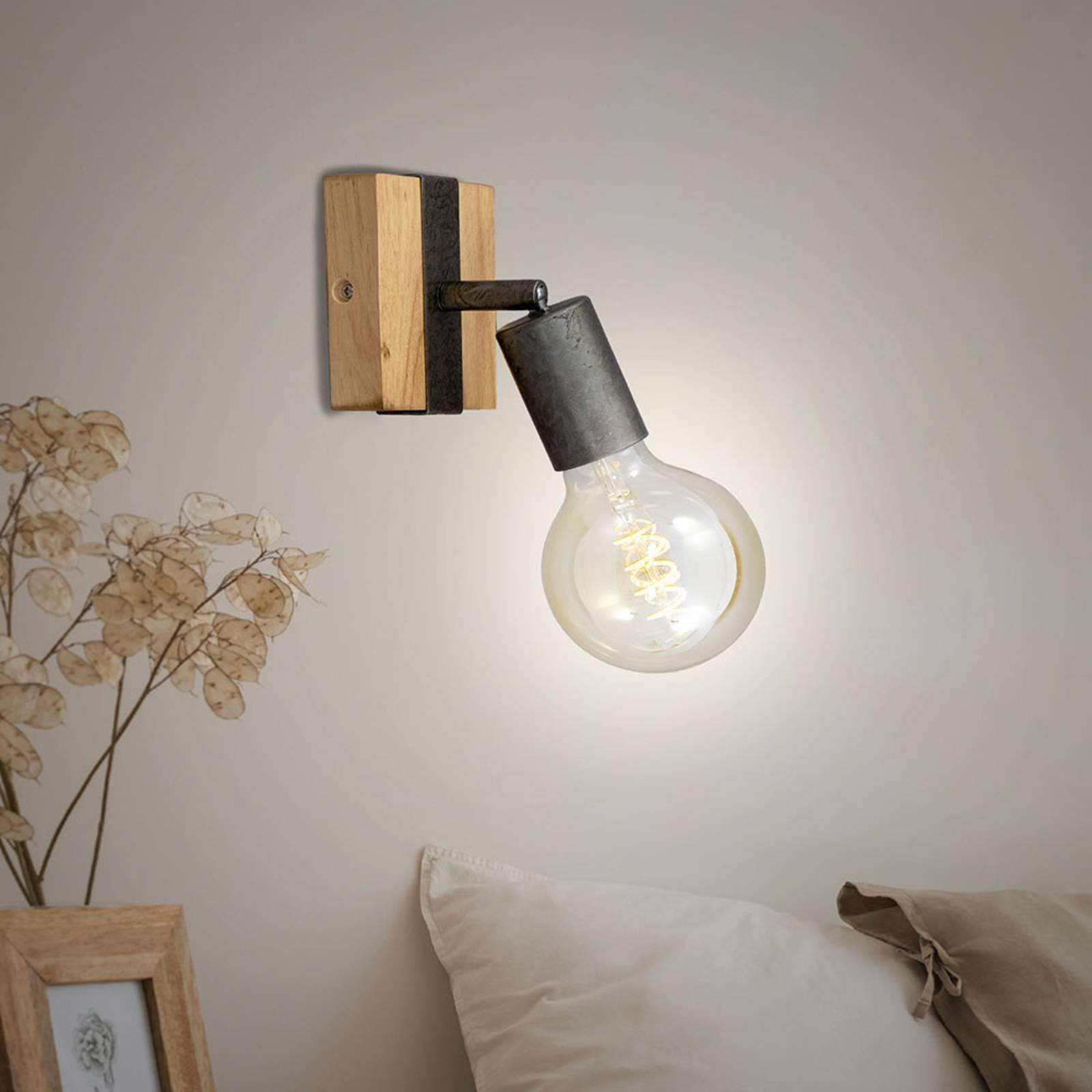 Wandlamp Wood Basic, 1-lamp